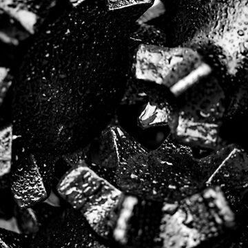 Tricone Drill Bit Close-up by arc1