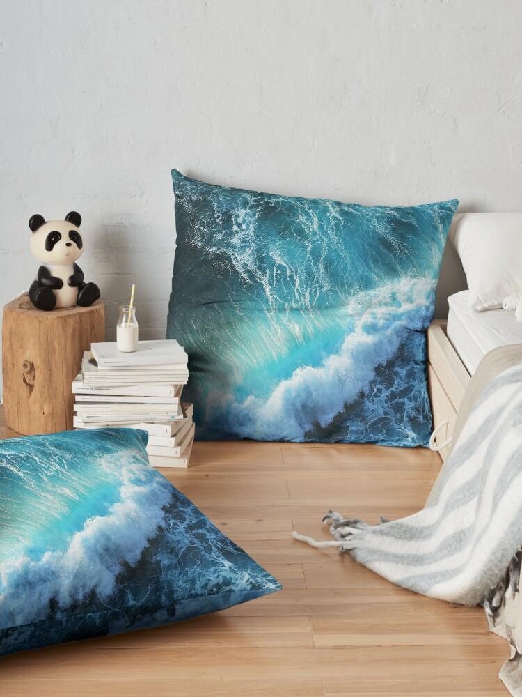 Alternate view of Waving Blue Floor Pillow