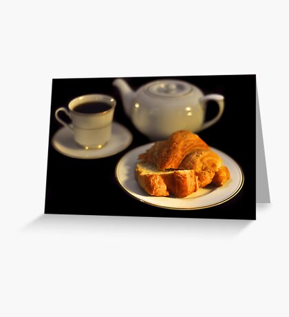 Breakfast Croissant  Greeting Card