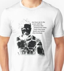 Killmonger 'Bury Me' Memorable Famous Quote Unisex T-Shirt