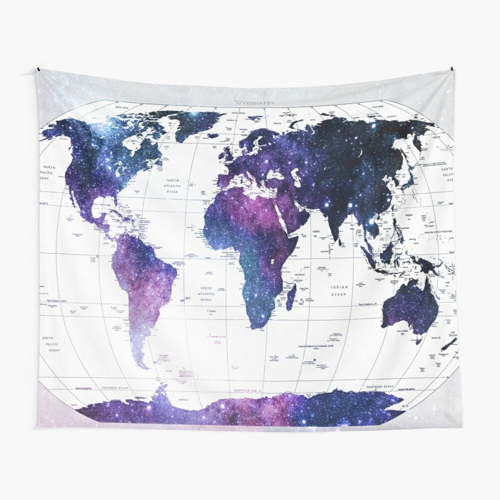 ALLOVER THE WORLD-Galaxy map Wall Tapestry