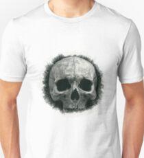 skull black and white  Unisex T-Shirt