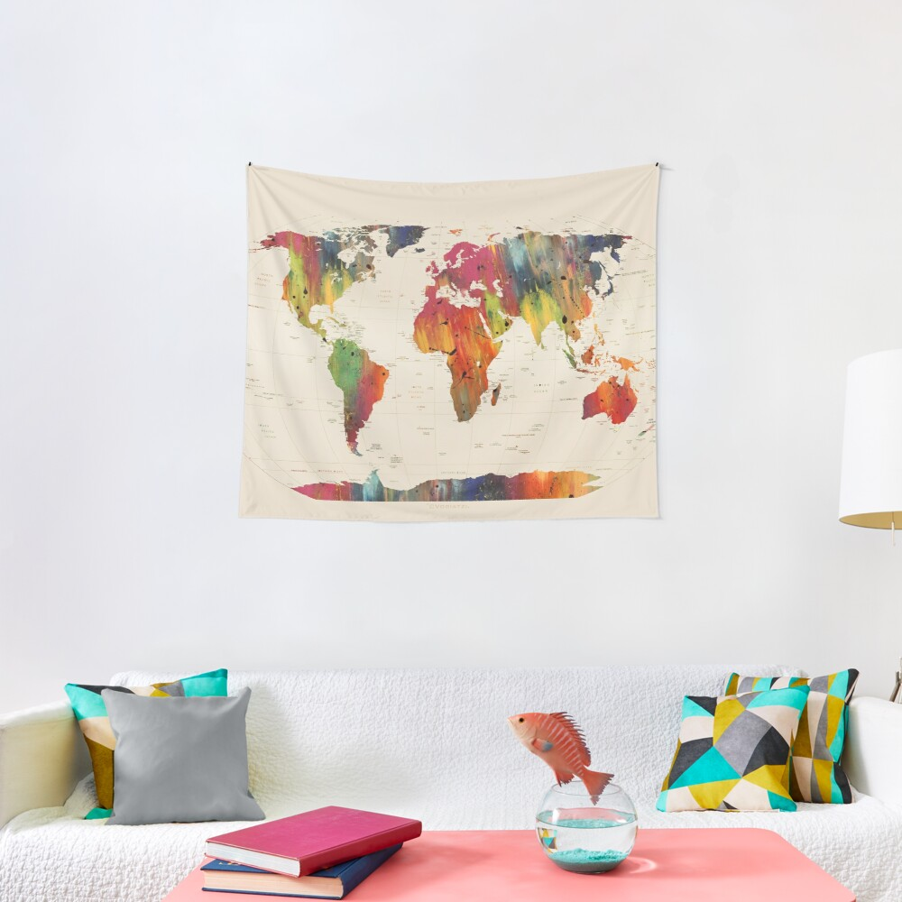 ALLOVER THE WORLD Tapestry