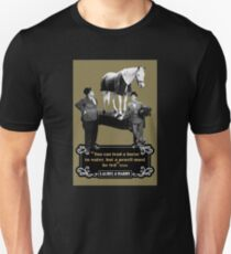 Laurel & Hardy - 'You Can Lead A Horse To Water, But A Pencil Must Be Led' Slim Fit T-Shirt