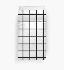 Grid White & Black Duvet Cover