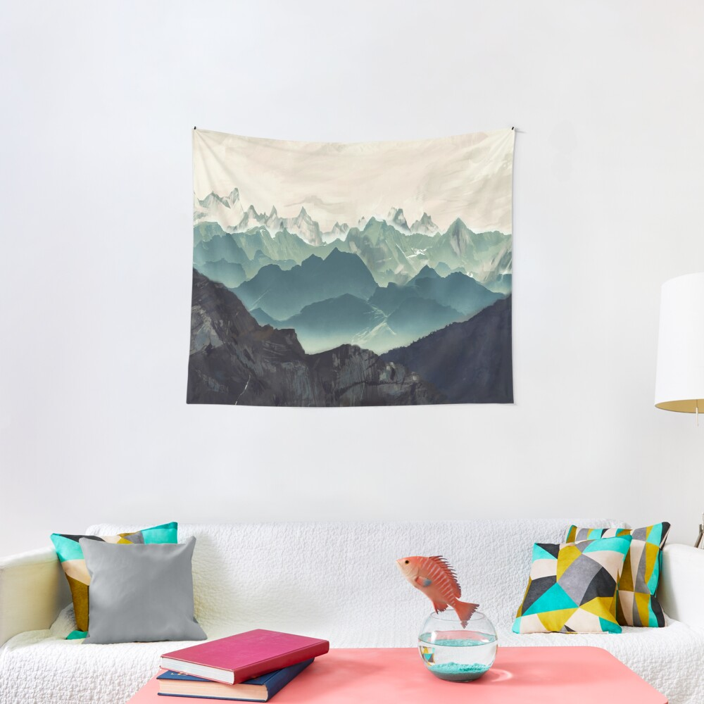 Shades of Mountain Tapestry
