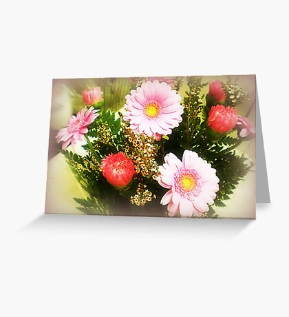 Pink Bouquet - a Gift Greeting Card