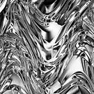 Silver Aluminium Molten Metal Digital Texture by BluedarkArt