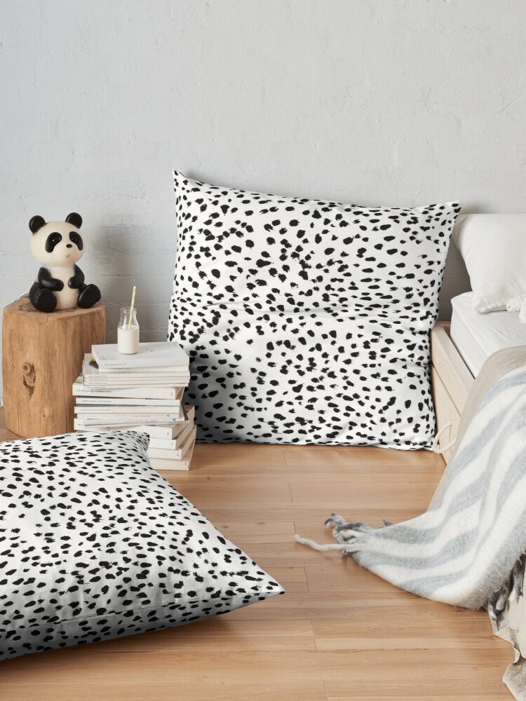 Alternate view of Dalmat-b&w-Animal print I Floor Pillow
