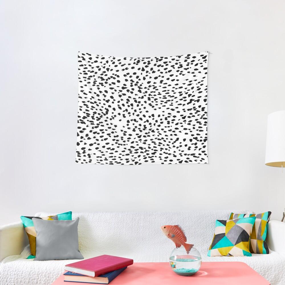 Dalmat-b&w-Animal print I Tapestry