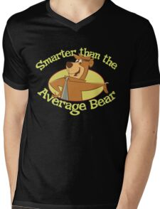 Yogi Bear Smarter Than The Average Bear Mens V-Neck T-Shirt