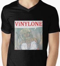 Vinylone color Aria Big Men's V-Neck T-Shirt