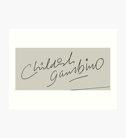 Childish Gambino Signature Art Print