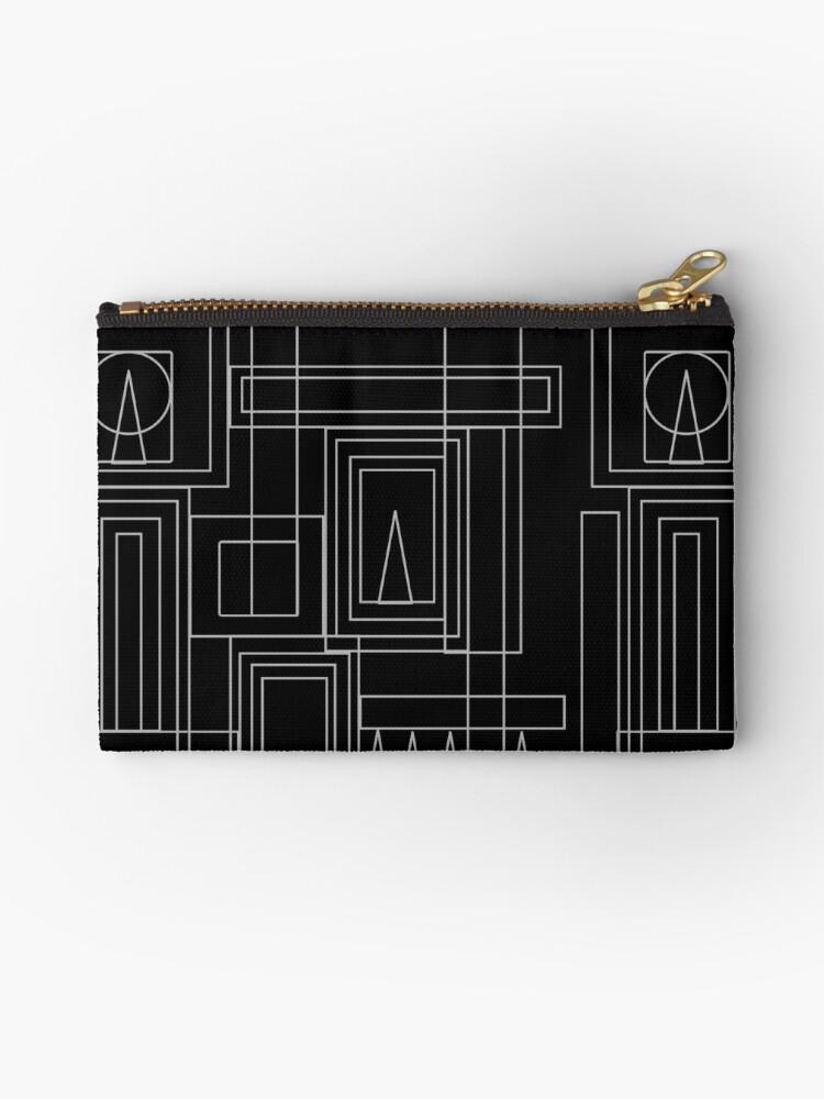 Black & Grey Art Deco Design Print  by MissSuzyRose