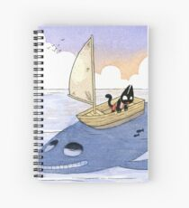 Cat on the Ocean Spiral Notebook