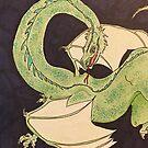 Green dragon  by Brandy Heinrich