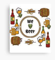 we love beer beer design beer tshirt hoodie sticker bag mug Canvas Print