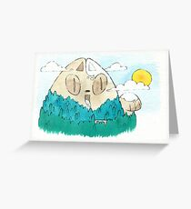 Cat Mountain Greeting Card