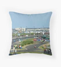 Coming Into The Chicane Throw Pillow