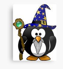 Penguin Wizard Metal Print