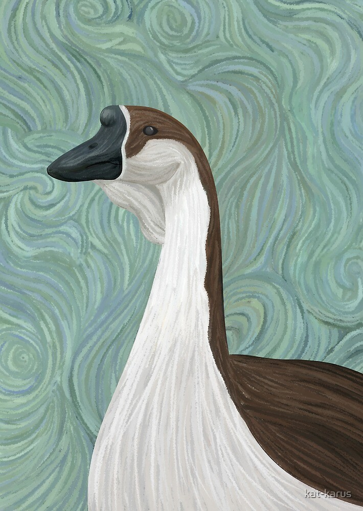 Goose self-portrait by kat-karus