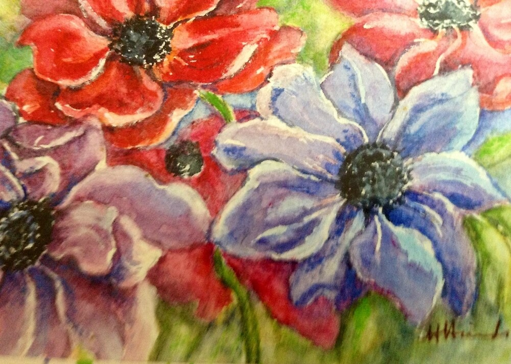Colourful watercolour by Something-Cosy