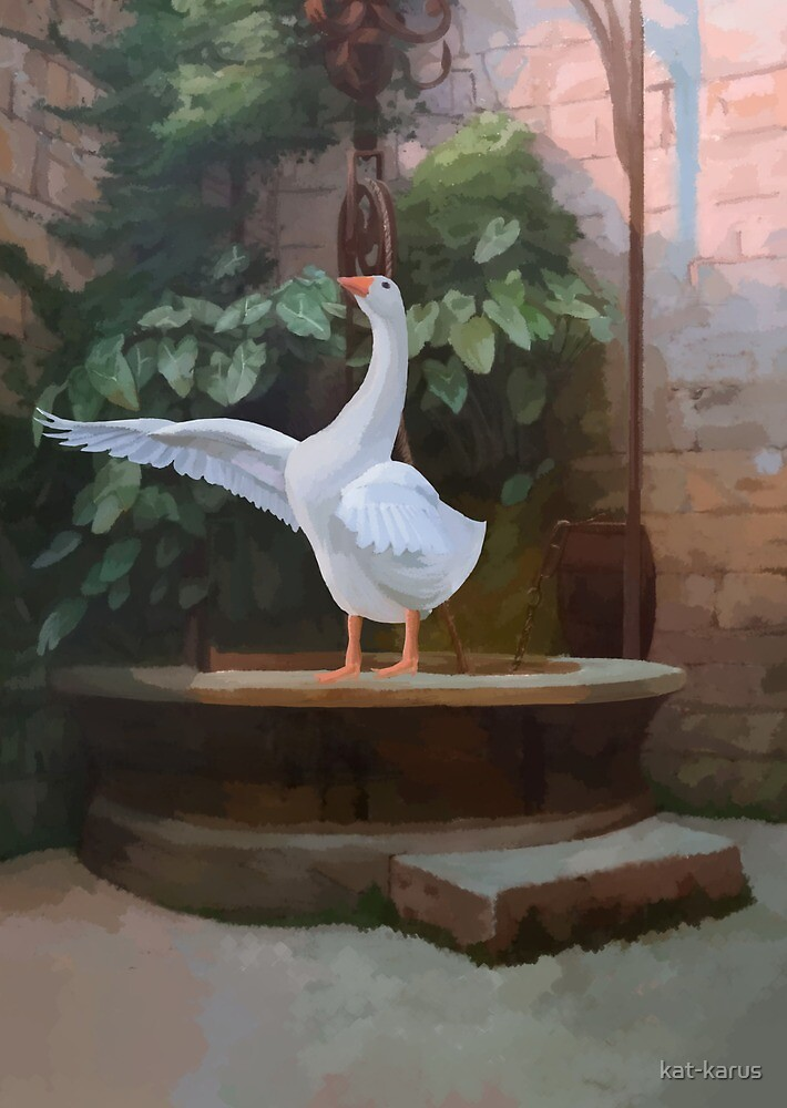 Goose Coming Out of Her Well by kat-karus