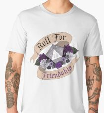 Roll For Friendship! - Asexual Pride Men's Premium T-Shirt