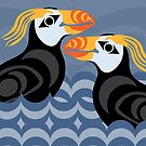 Tufted Puffins by Mark Gauti