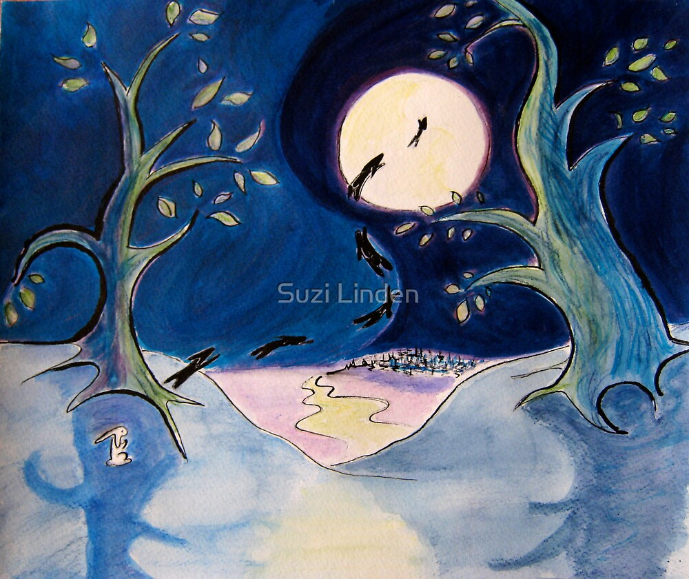 Rabbit and the Moon by Suzi Linden