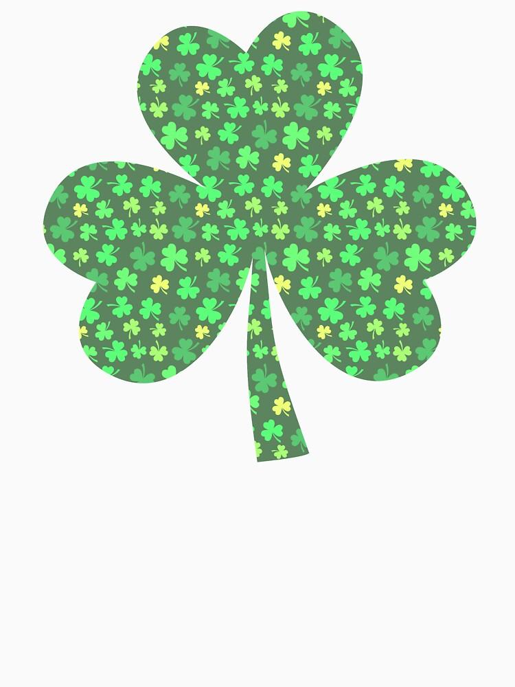 St Patricks Day Green Shamrock Clover Irish Pattern by YLGraphics