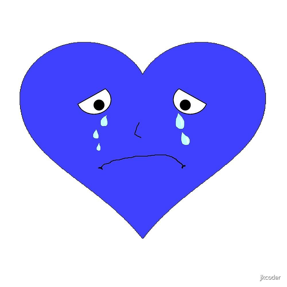 Sad Heart Face by jkcoder