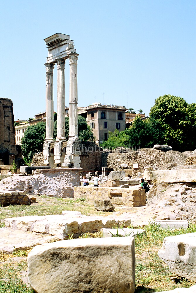 The Ruined Temple Of Castor and Pollux by hojphotography