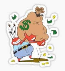 Mr. Krabs Money Sticker Sticker