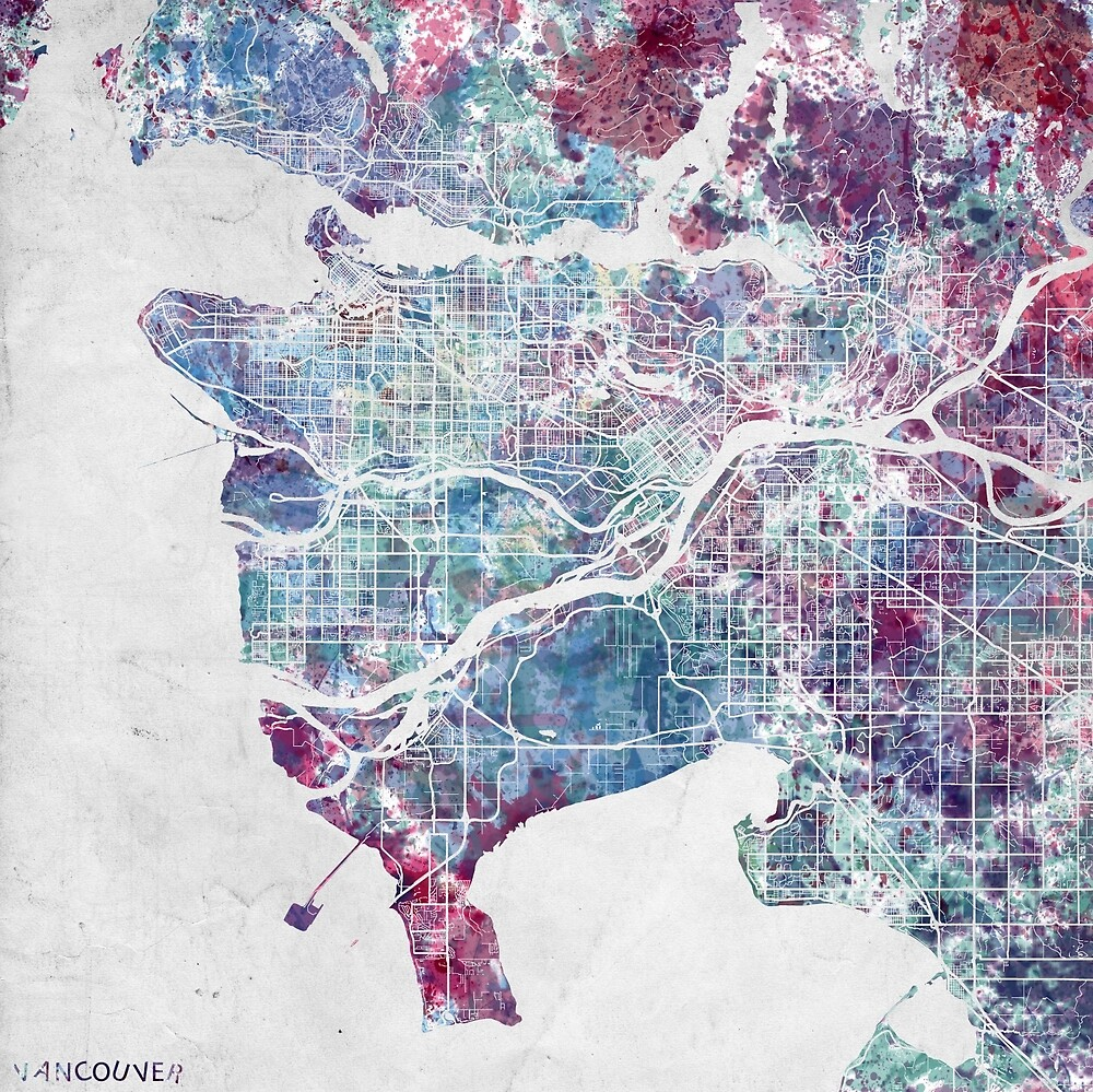 Vancouver map by MapMapMaps