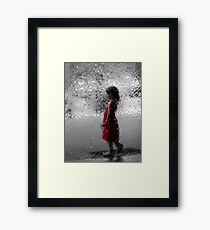 Contemplating red Framed Print