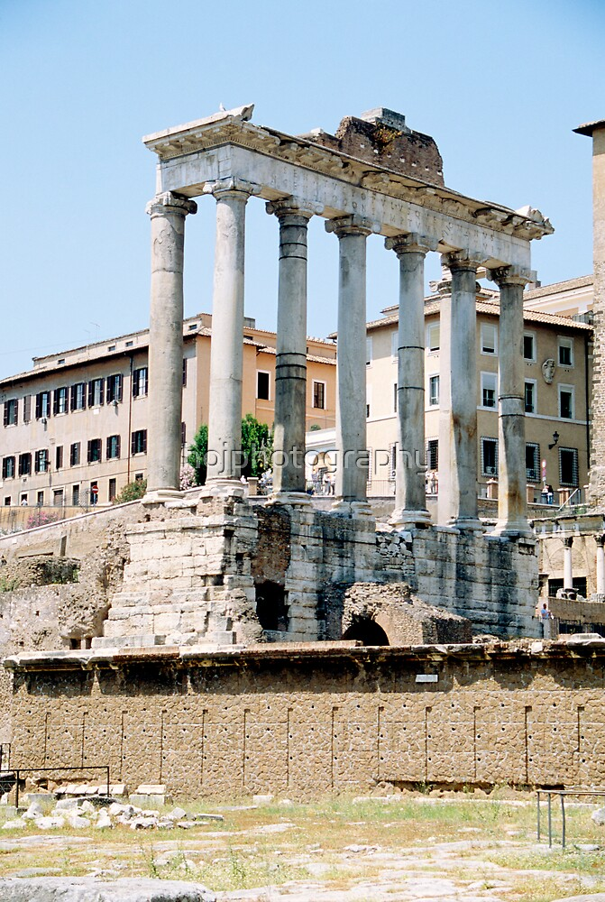 The Temple of Saturn, Rome, Italy by hojphotography