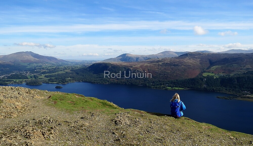 Contemplating Catbells, Lake District by Rod Unwin