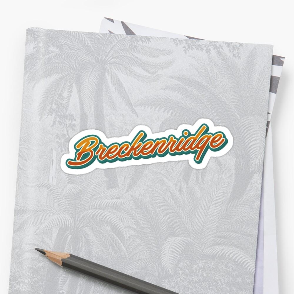 Breckenridge np Typography by Georgi Zhelyazkov