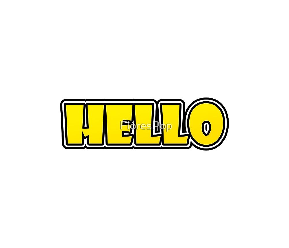 Comic Hello by FloresPop