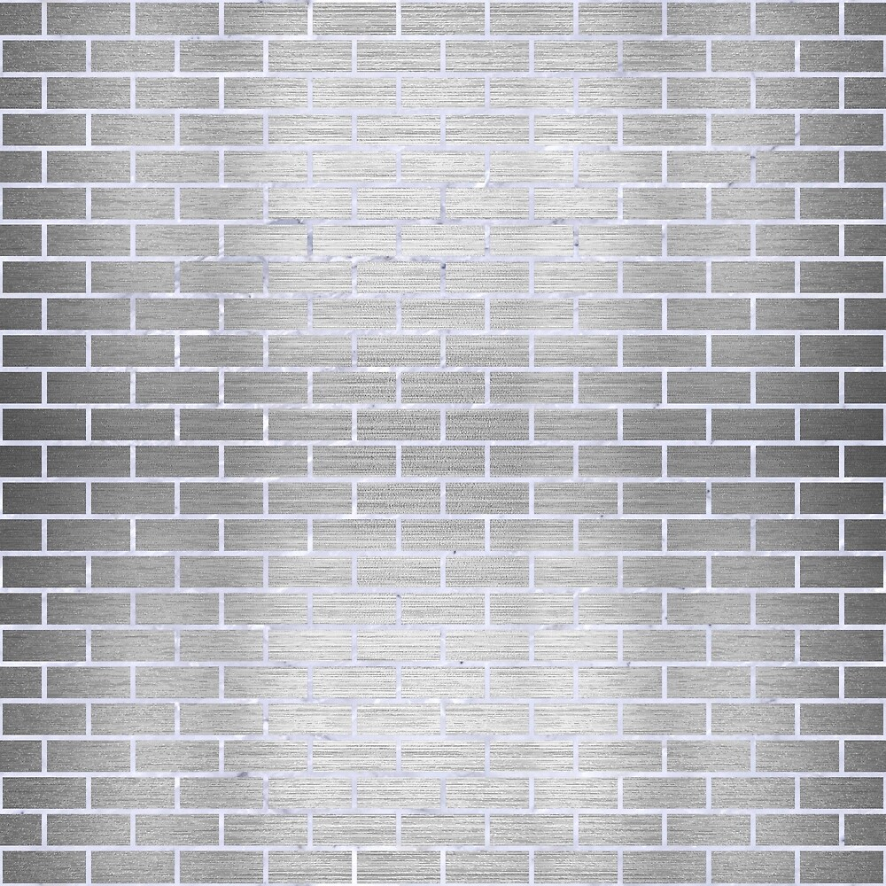 BRICK1 WHITE MARBLE & SILVER BRUSHED METAL by johnhunternance