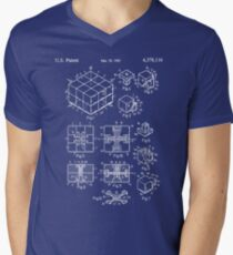 Rubik's Cube Patent: Awesome Patents Men's V-Neck T-Shirt