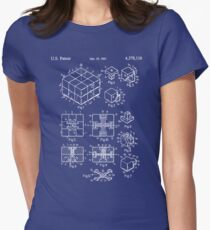 Rubik's Cube Patent: Awesome Patents Women's Fitted T-Shirt