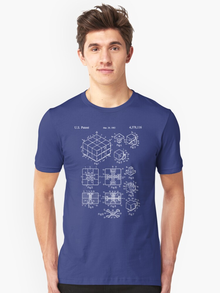 Rubik's Cube Patent: Awesome Patents Unisex T-Shirt Front