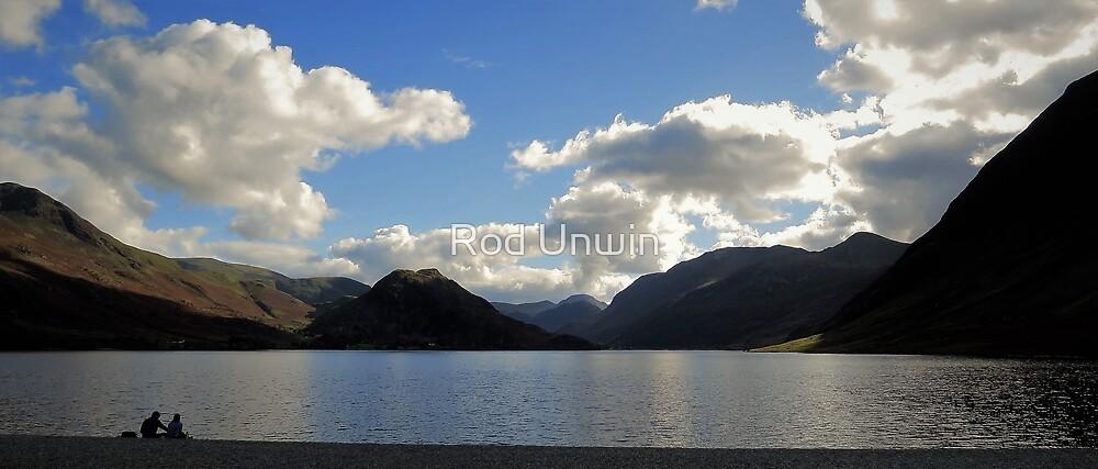 Dusk, Crummock Water, Lake District by Rod Unwin