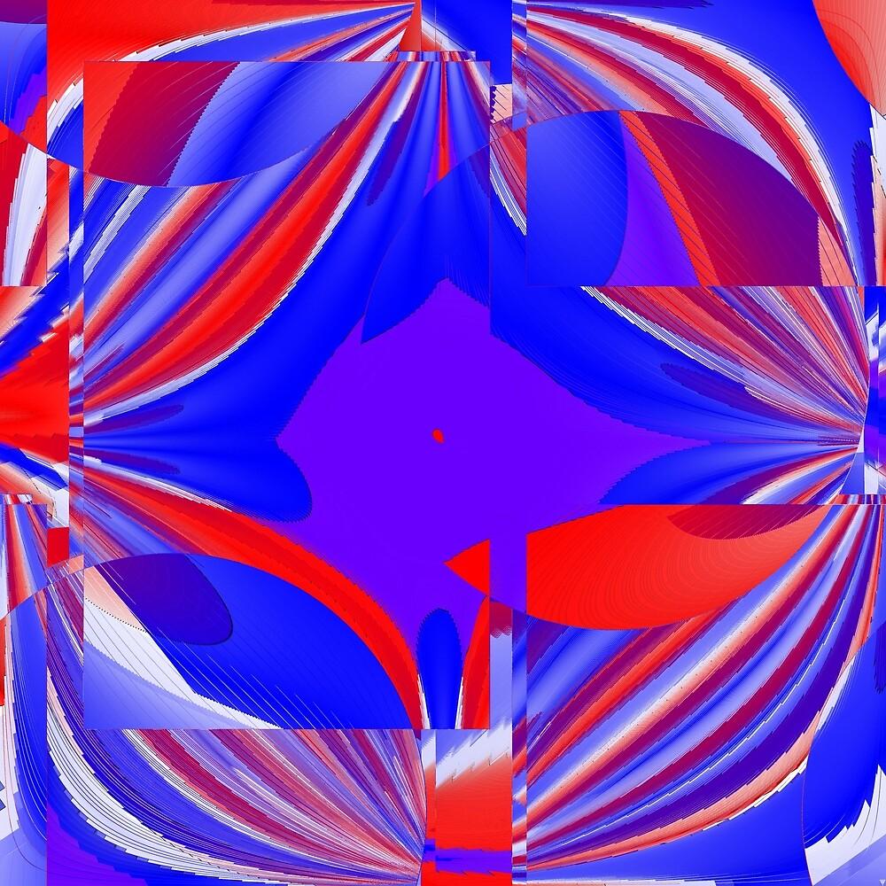 Red, blue and purple II by Tiia Vissak