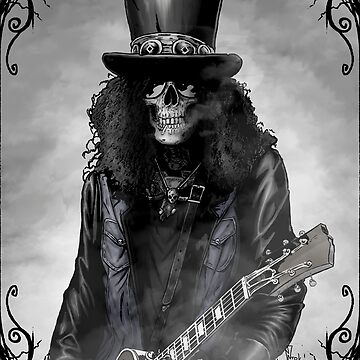 Heavy metal skull guitarist by Ntok