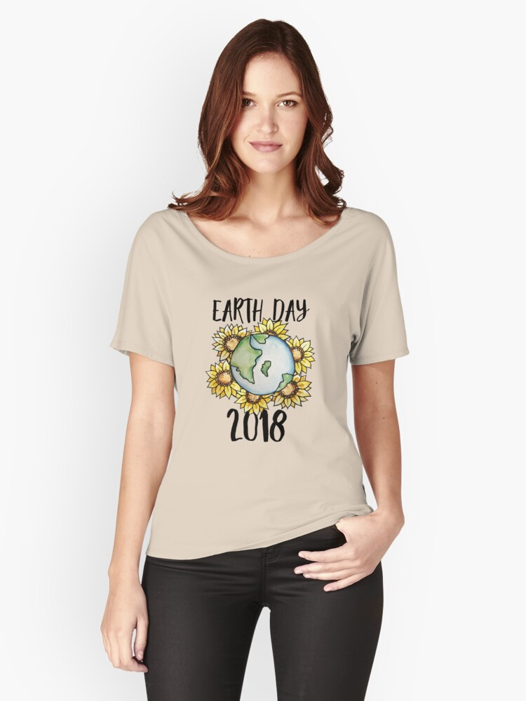 Earth Day 2018  Women's Relaxed Fit T-Shirt Front