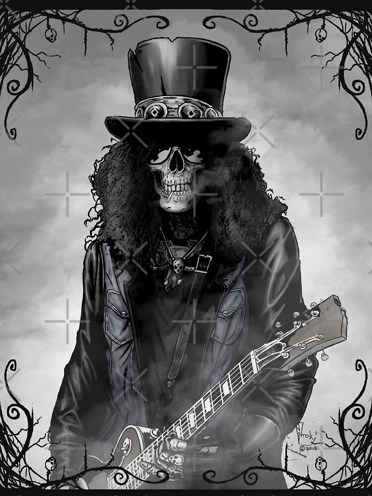 Heavy metal skull guitarist by Ntok