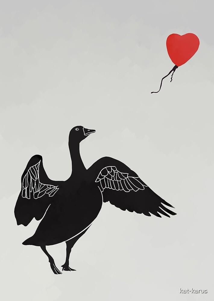 Balloon Goose by kat-karus